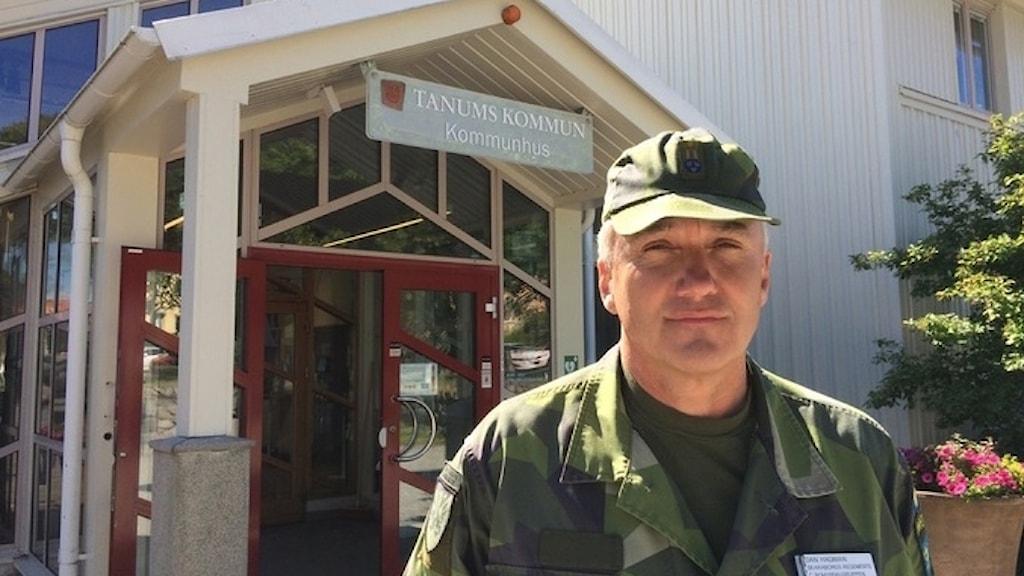 Dan Hagman Skaraborgs regemente chef hemvärnet Bohuslän-Dalsland.