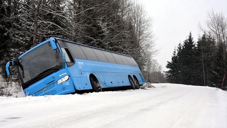 Buss i diket, Vänersborgs kommun.