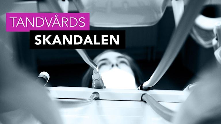 En kvinna ligger i tandläkarstolen. Foto: Julia Forsberg/Sveriges Radio