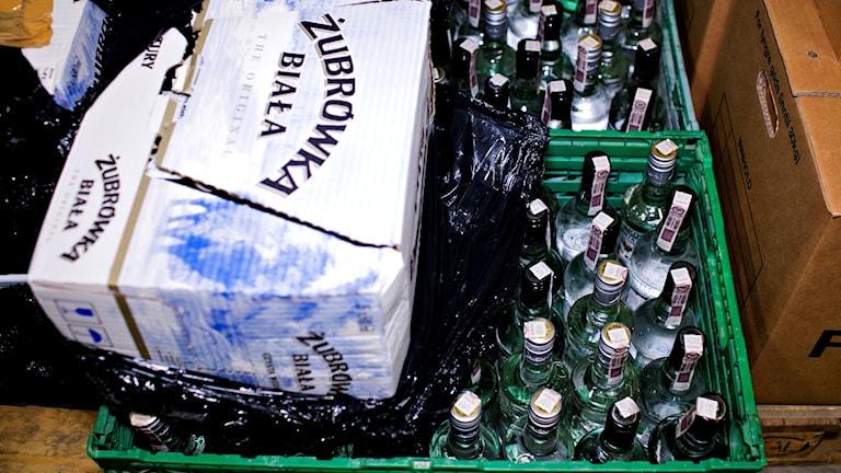 Bild på spritflaskor.