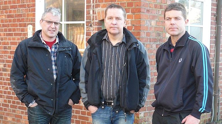 Dick Karlsson, Lennart Jonasson och Aimo Väyrynen. Foto: Elisabeth Cederblad/P4 Väst.