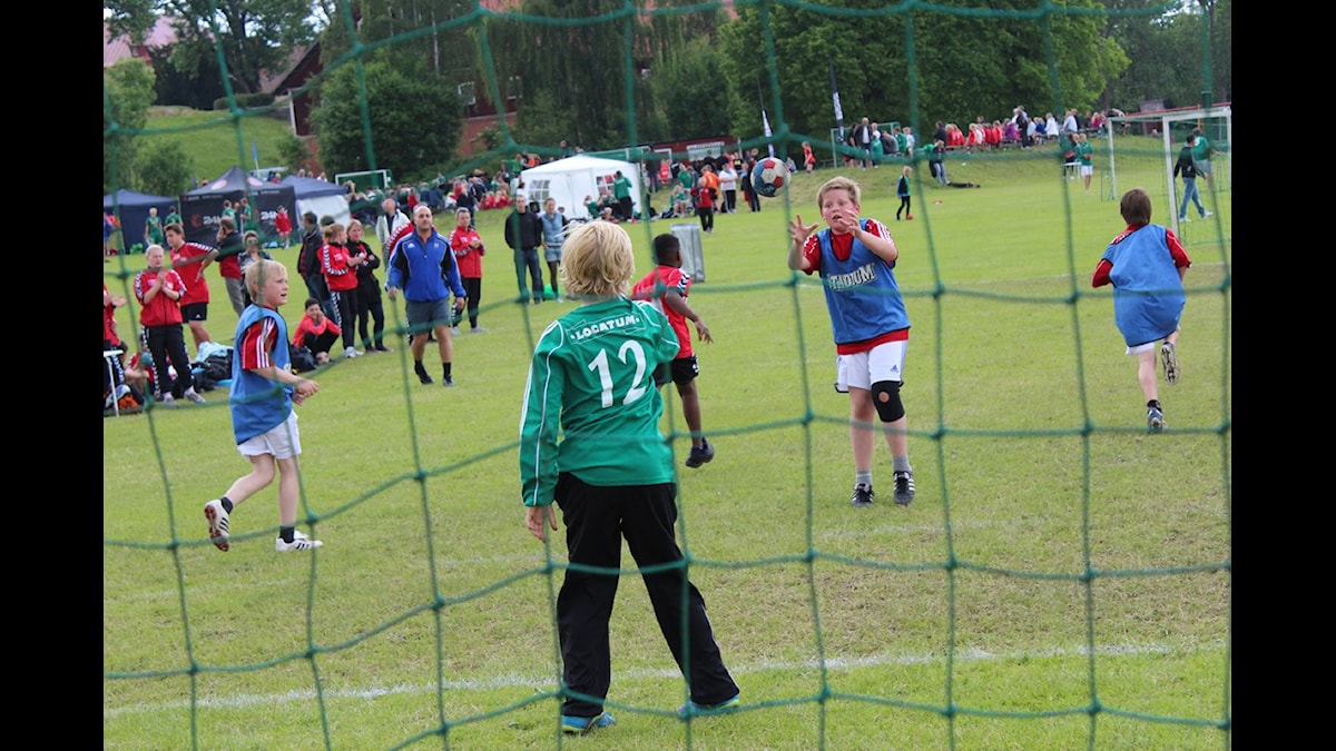 Bild på handbollsmålvakt i Junicupen