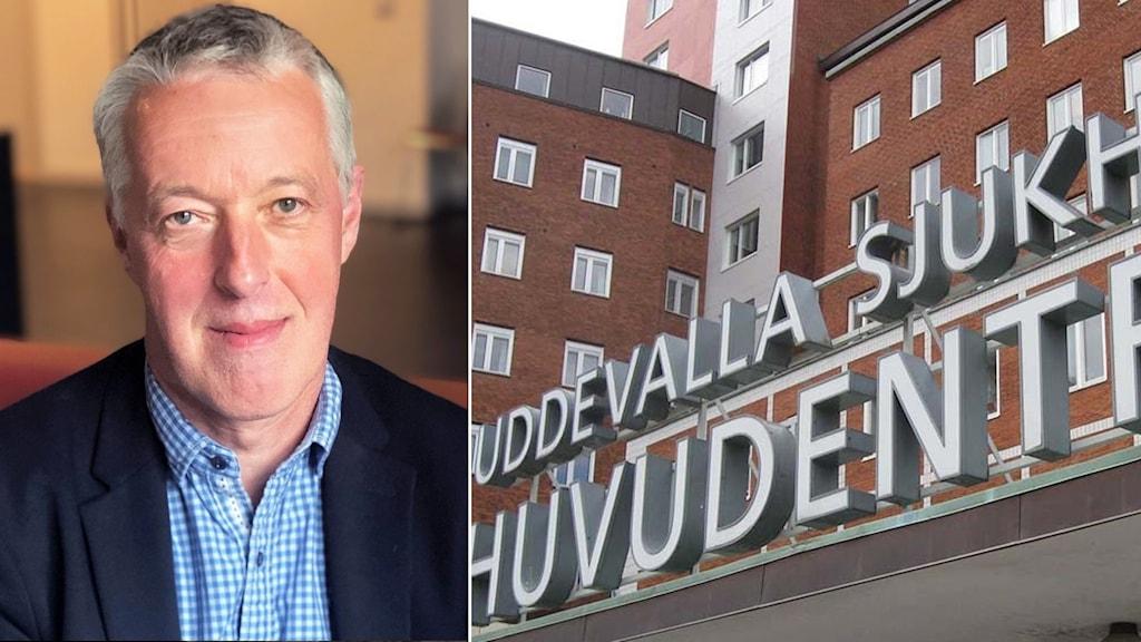 Björn Järbur, sjukhusdirektör bild 2 entré uddevalla sjukhus