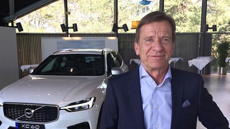 Volvo personvagnars vd Håkan Samuelsson. Foto: Victor Jensen/Sveriges Radio.