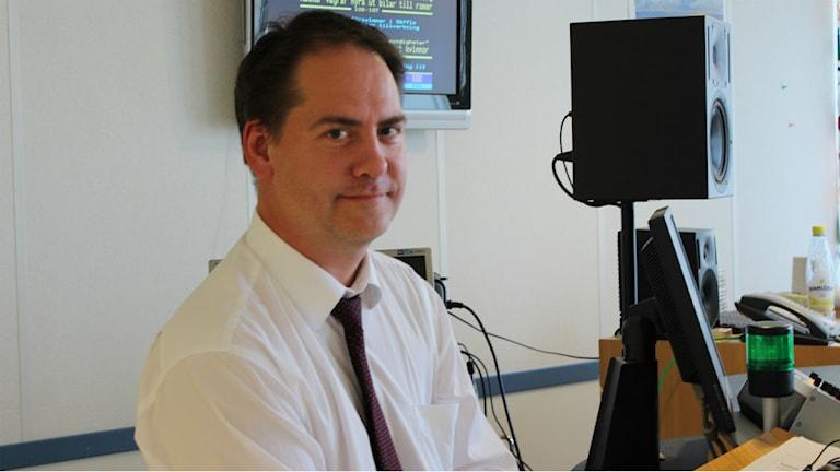 Kenneth G Forslund, riksdagsledamot från Bohusläng, pratade om skuggbudgeten i P4 Väst. Foto: Patrik Enlund/Sveriges Radio