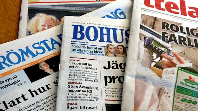 Hur Strömstads tidning, Bohusläningen och TTELA påverkas är ännu oklart. Foto: P4 Väst
