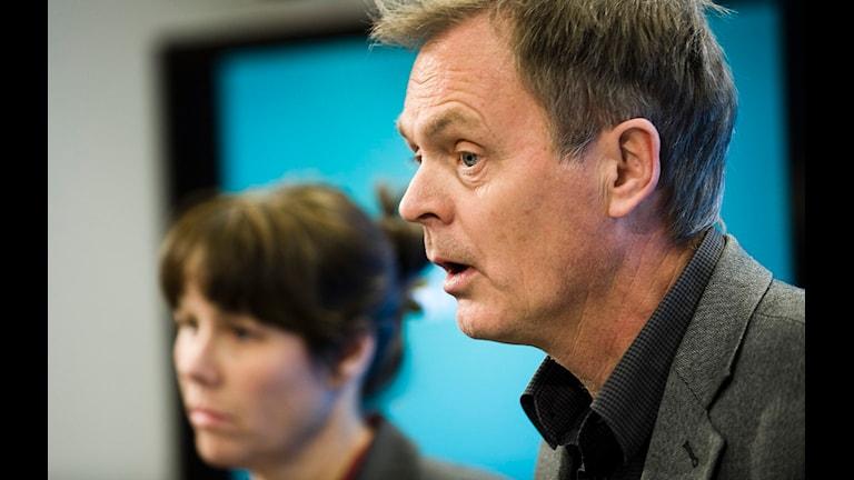 Bild på Åsa Romson och Peter Rådberg (Mp). Foto: Ingvar Karmhed/Scanpix
