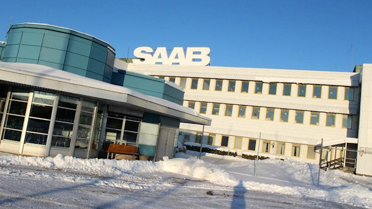 Saab Nevs huvudporten. Foto: Victor Jensen/P4 Väst.