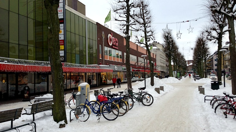 Trollhättan centrum och Oden köpcentrum. Foto: Victor Jensen/P4 Väst.