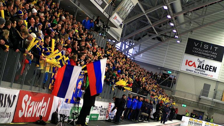 Publik bandy VM Vänersborg. Foto: Victor Jensen/P4 Väst.