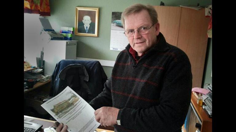 Karl-Olof Niklasson, ordförande för samhällsföreningen Lyse Framtid