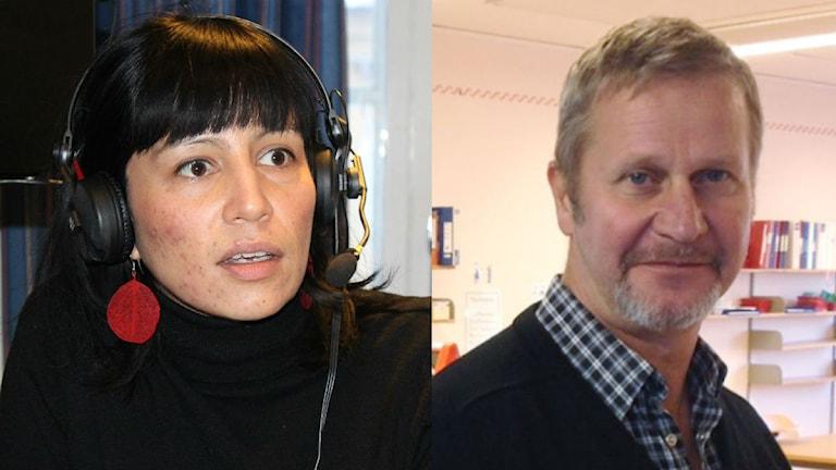Rossana Dinarmarc och Mikael Cederbratt. Foto: Sveriges Radio