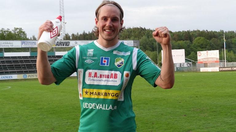 Ljungskile David Johannesson första mål i superettan. Foto: Bengt Israelsson/sverigesradio