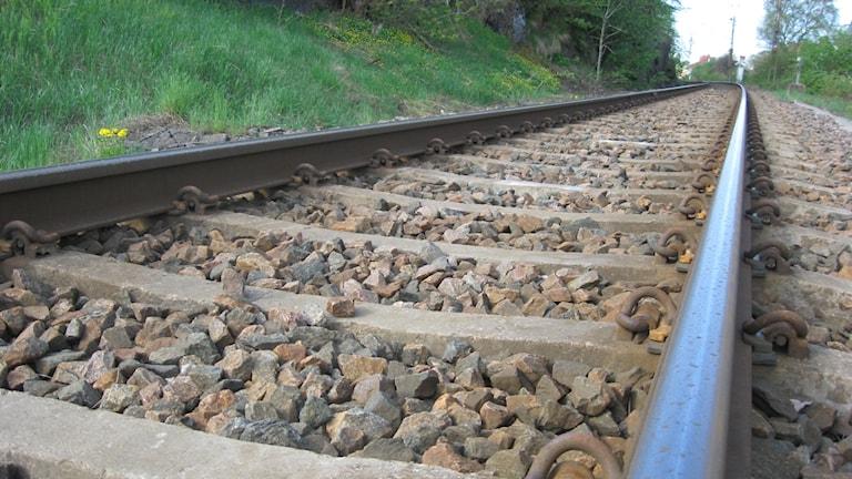 Bild på ett järnvägsspår.