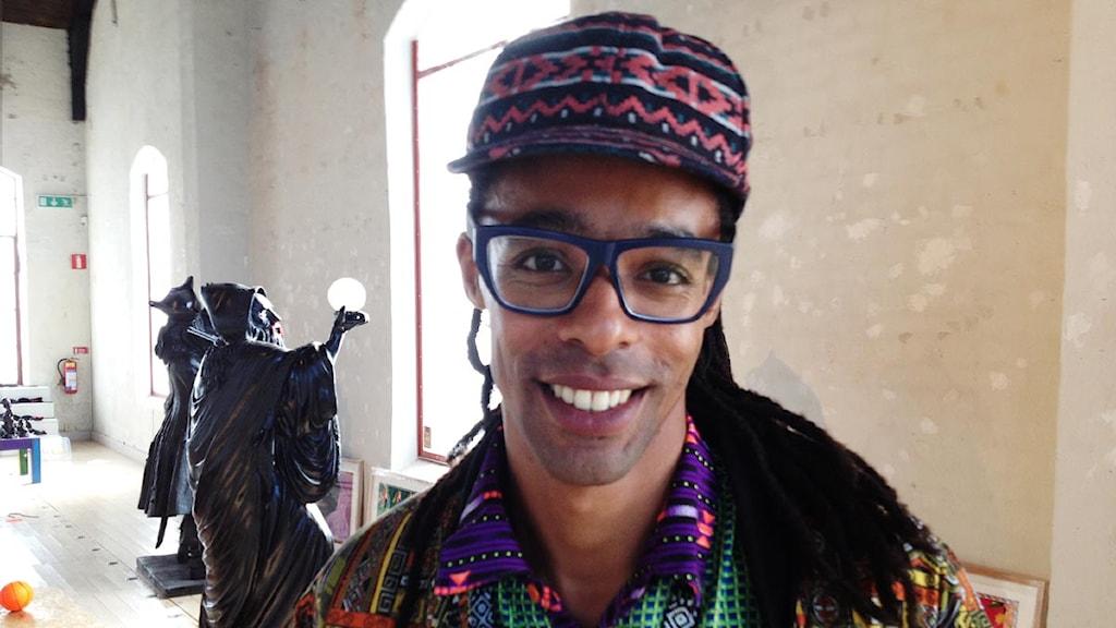 Konstnären Makode Linde (arkivbild). Foto: Marcus Gorne/Sveriges Radio