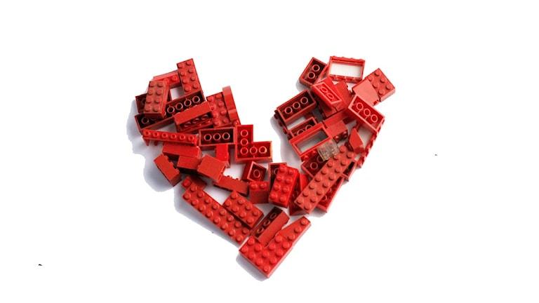 Hjärta i lego. Bild: Andreas H. Nilsson / SvD / SCANPIX
