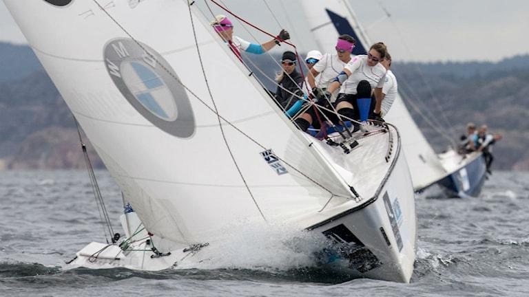 Bild från seglingarna i Women's Match Race i Lysekil 2013