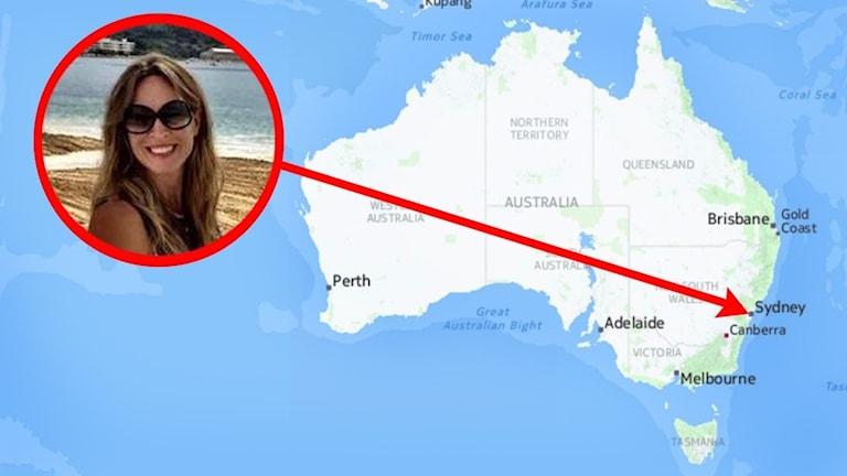 Camilla Bollow från Orust bor i Australien