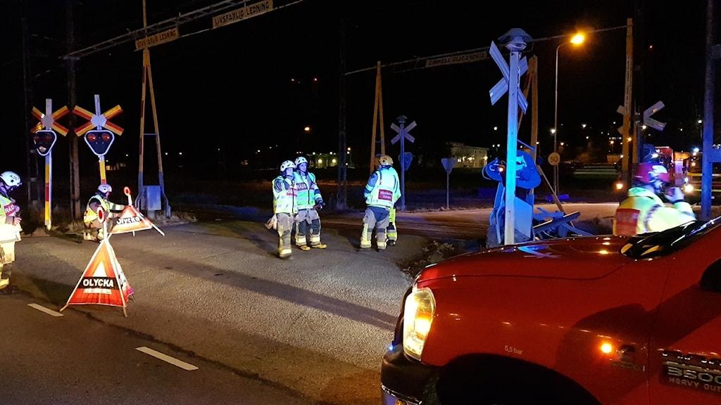 Järnvägsövergång Olycka Lastbil Stenungsund Bommar Trafikverket