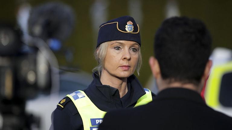 Bild på polisens presstalesperson Anna Göransson.