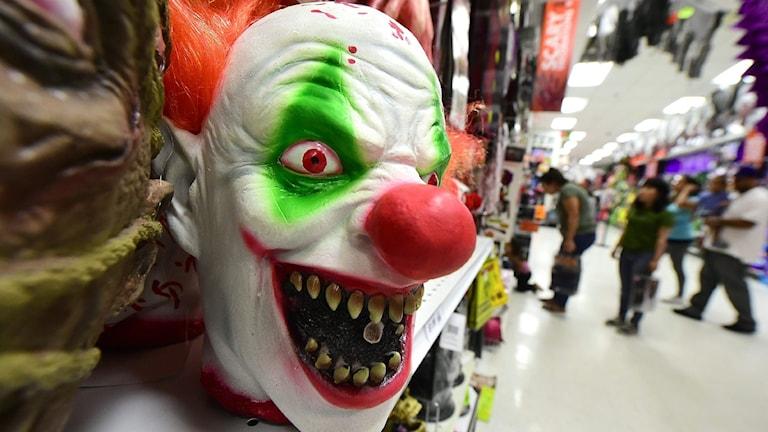 Clownmask. Foto: Frederic J Brown/TT.