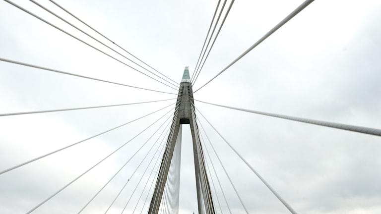 Uddevallabrons ena pylon.