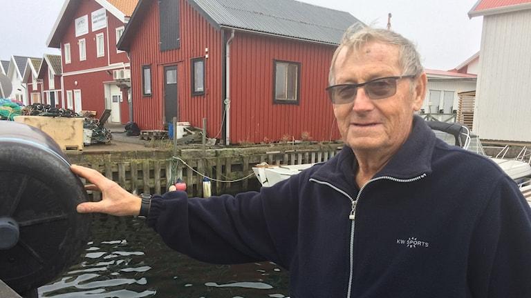 Sixten Söderberg på Smögen är nöjd med hummerfisket så här års.