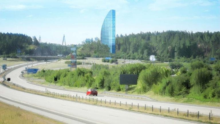 Fotomontage över hotell vid Torp i Uddevalla. Fotomontage: Contekton Arkitekter Fyrstad AB
