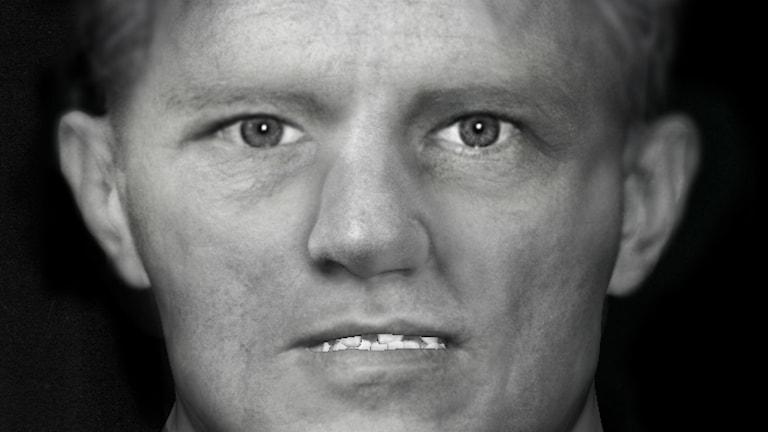 En fantombild av den så kallade Näsingemannen skapad av Polisen och Facelab. Foto: Polisen/Facelab