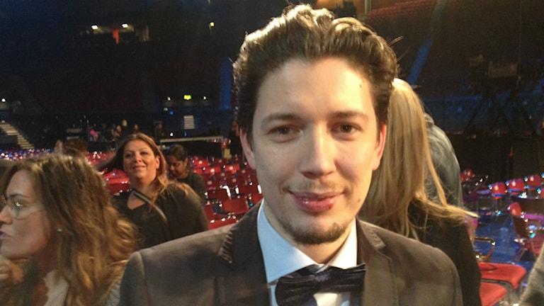 Anton Malmberg Hård af Segerstad efter Melodifestivalen i Göteborg. Foto: Marcus Gorne/P4 Väst Sveriges Radio