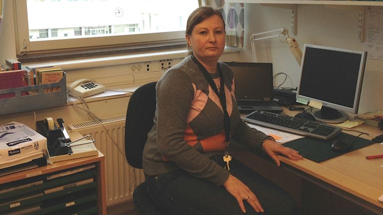 Olexandra Tershak Gustavsson kom till Sverige från Ukraina. Foto: Oskar Lodin/P4 Väst