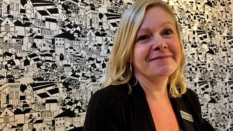 Mäklaren Maria Alexandersson.