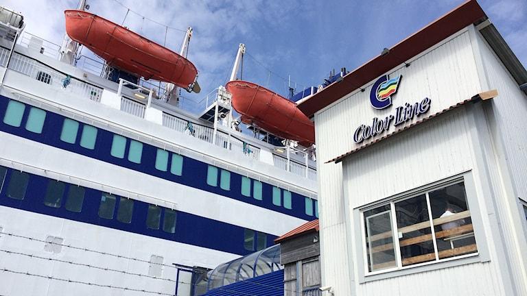 Color line i Strömstad. Foto: Cecilia Bergil/Sveriges Radio.