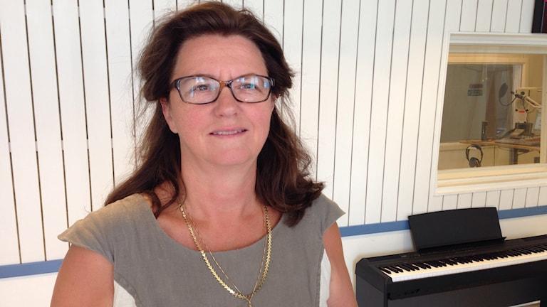 Eva Lindhusen Lindhé. Foto: Susanna Wictorzon/Sveriges Radio.