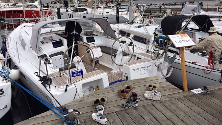 Båtar på Öppna varv på Orust 2014. Foto: Victor Jensen/Sveriges Radio.
