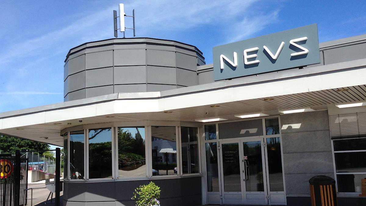 Biltillverkaren Nevs huvudentre i Trollhättan.