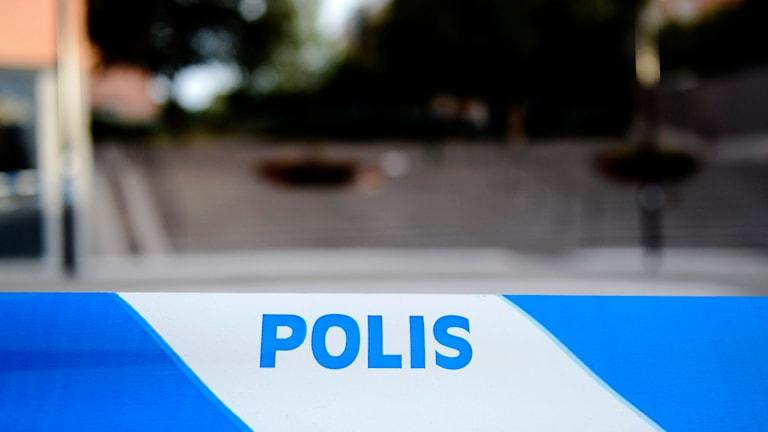 Polisens avspärrning. Foto: Pontus Lundahl/TT.
