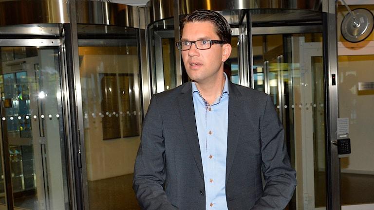 Jimmie Åkesson. Foto: Anders Wiklund/TT.