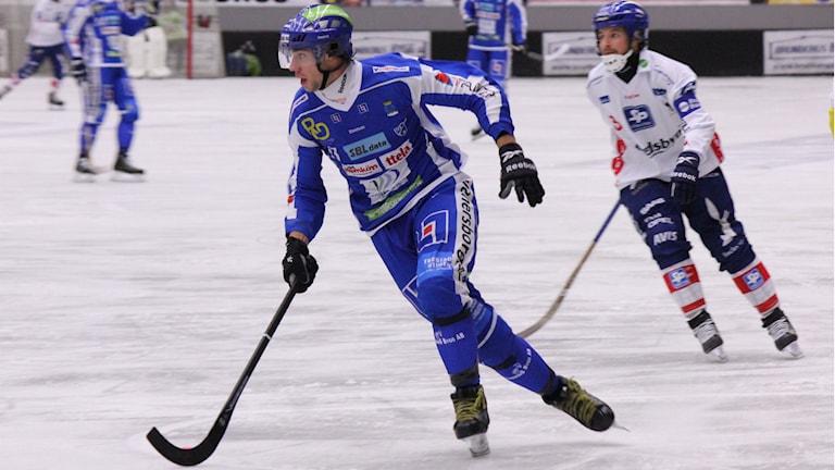 Bandy IFK Vänersborg Christoffer Fagerström Foto: Elliot Ohlén/Sveriges Radio