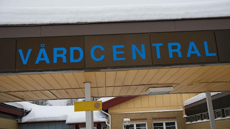 Vårdcentral. Foto: Victor Lundberg / TT sz4ccf01