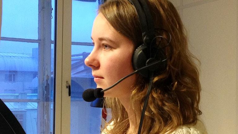 Amanda Carlin. Foto: Elisabeth Cederblad/Sveriges Radio