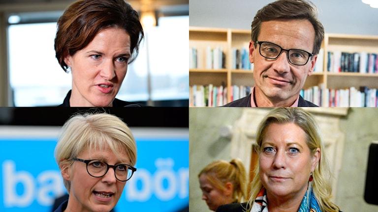 Moderaterna i Bohuslän nominerar fyra namn till ny partiordförande. Anna Kinberg Batra, Ulf Kristersson, Elisabeth Svantesson och Catharina Elmsäter-Svärd är deras nomineringar. Foto: TT