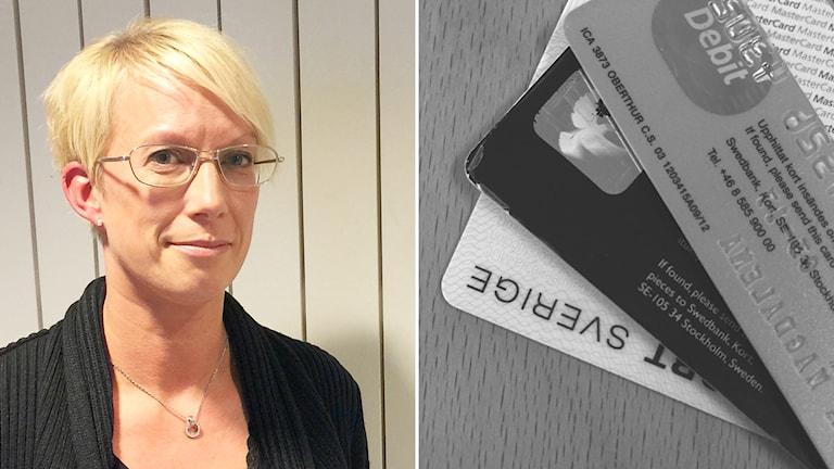 Polisen Linda Johansson. Foto och montage: Susanna Wictorzon/Sveriges Radio.