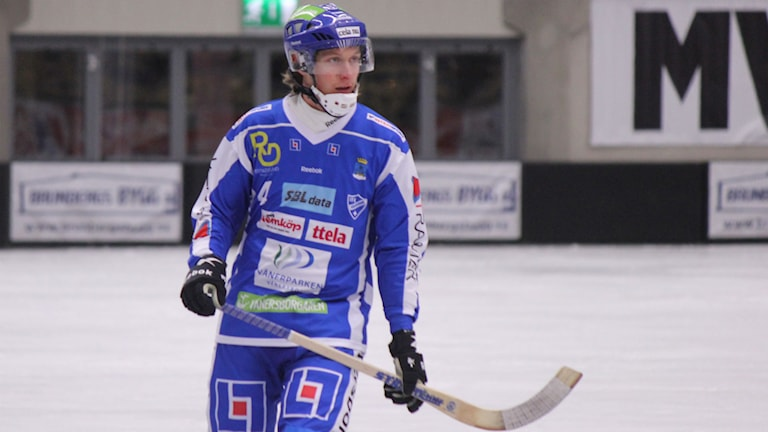 Bandy IFK Vänersborg Petter Andersson Foto: Elliot Ohlén/Sveriges Radio