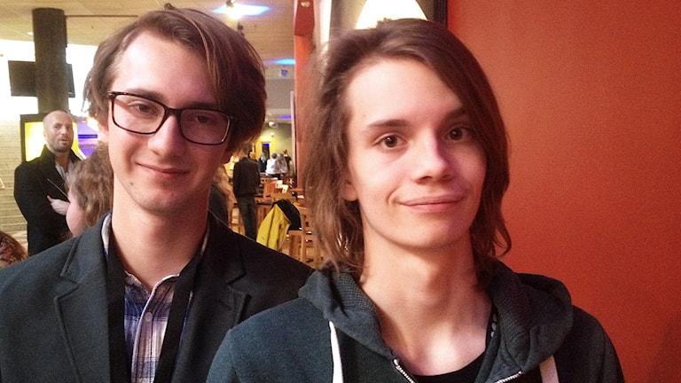 Jonatan Bökman och Daniel Engstrand. Foto: Peter Olsson/Sveriges Radio.
