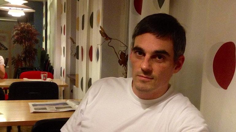 Andreas Engblom, reporter TTela, Foto: Elisabeth Cederblad P4 Väst