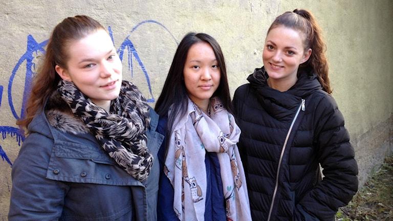 Malin Sandström, Märta Brink och Lovisa Lagrell.