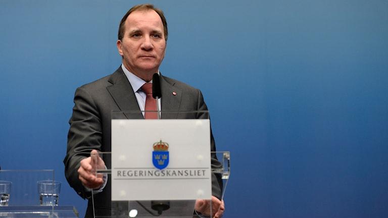 Statsminister Stefan Löfven utlyser extraval. Foto: Pontus Lundahl/TT