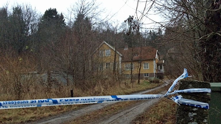 Den gamla skolan användes för cannabisodling. Foto: Oscar Lodin/Sveriges Radio