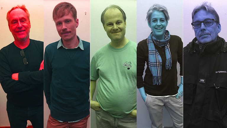 Peter Sundblad, Jimmie Schewenius, gästlyssnaren Chrisitian Antonsson, Therese McDonald och Benny Andersson. Foto: Susanna Wictorzon/Sveriges Radio.